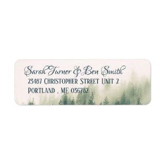 Foggy Mountain Return Address Label