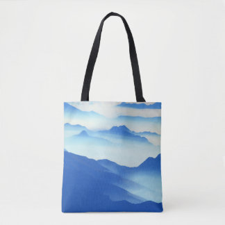 Foggy Mountain Vista Tote Bag