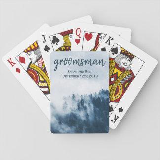 Foggy Mountain Wedding Playing Cards