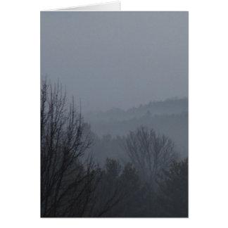 Foggy Mountian Ranges Greeting Card