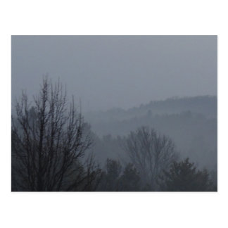 Foggy Mountian Ranges Postcard