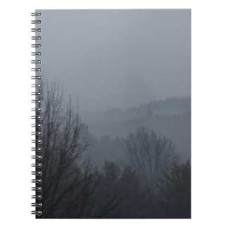 Foggy Mountian Ranges Spiral Notebook