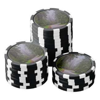 Foggy Redwood national park in northern California Poker Chips