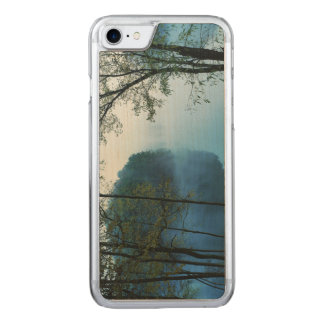 Foggy River And Woods Photo Carved iPhone 8/7 Case