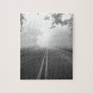 Foggy road jigsaw puzzle