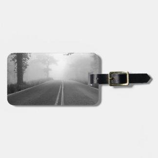 Foggy road luggage tag