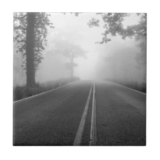 Foggy road tile