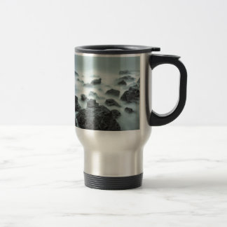 Foggy Rocks Travel Mug