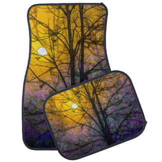 Foggy Sunset Car Mat
