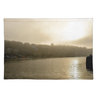 Foggy Whitby morning Placemat