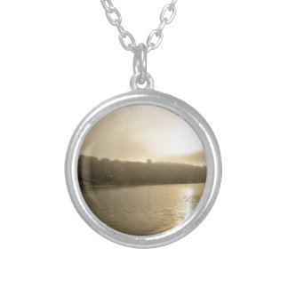 Foggy Whitby morning Silver Plated Necklace