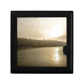 Foggy Whitby morning Small Square Gift Box