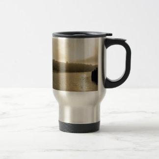 Foggy Whitby morning Travel Mug