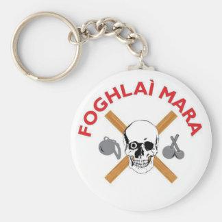 Foghlai Mara Keychain, White Key Ring