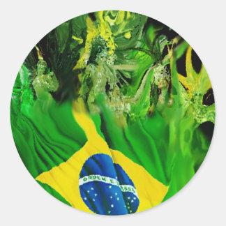 Fogo de Brasil Round Sticker