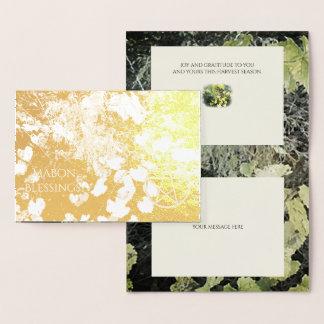 Foil Autumn Equinox Grapevine Mabon Harvest Home Foil Card