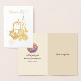 Foil Autumn Equinox Mabon Blessings Pentacle Foil Card