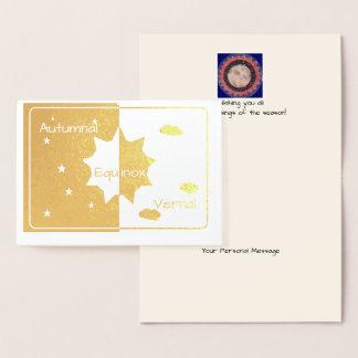 Foil Autumnal/Vernal Equinox Foil Card