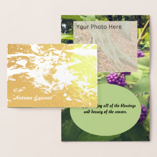 Foil Beautiful Beauty Berry Autumn Equinox Mabon Foil Card