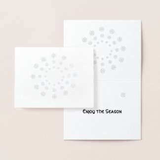 Foil Card - Snowflakes in Concentric Circles