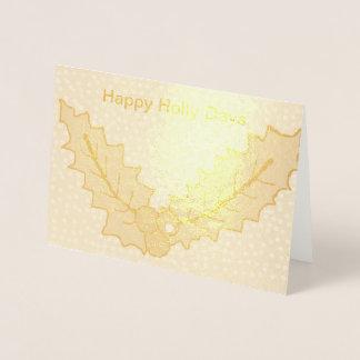 Foil Christmas card Holly