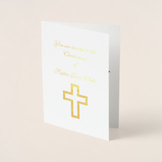 Foil Cross Invitations