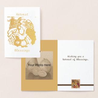 Foil Harvest Horseshoe Mabon Harvest Home Foil Card