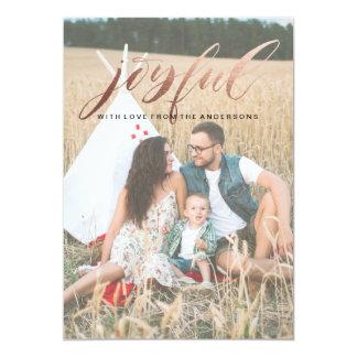 Foil Joyful Christmas Card 13 Cm X 18 Cm Invitation Card