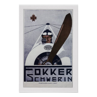 Fokker Schwerin WW1 Aviation Poster