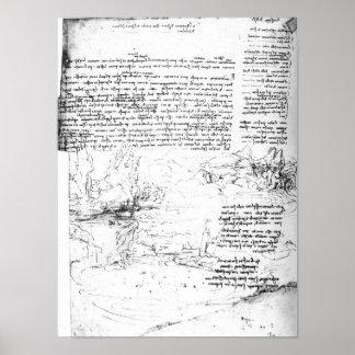 Fol 145v-a page from Da Vinci s notebook Print