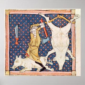 Fol.59v December: Killing Pigs Posters