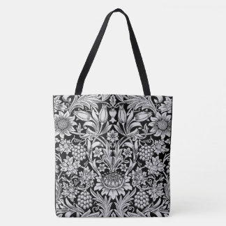 Fold and Field B&W Tote Bag All-Over Print