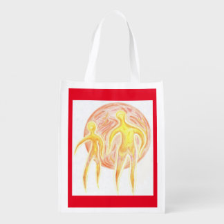 Foldaway Re-useable Bag Aliens Art