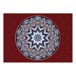 Folded Angles Mandala Artist Trading Card • ACEO Pack Of Chubby Business Cards