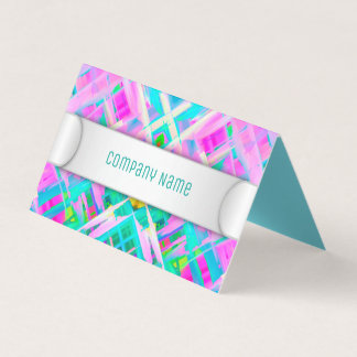 Folded Business Card Colorful digital art G473
