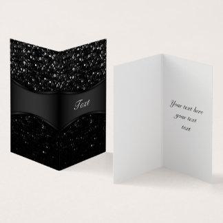 Folded Card Crystal Bling Strass
