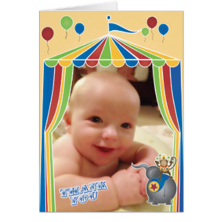 Folded Circus Thank You Notes with Your Photo