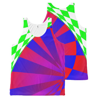 Folded Dimensions All-Over Print Tank Top