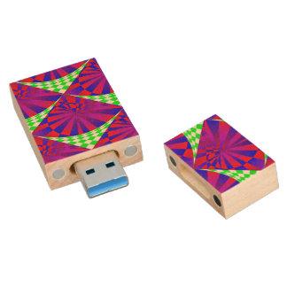Folded Dimensions Wood USB 3.0 Flash Drive