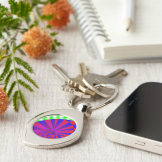 Folded Dimensions Silver-Colored Swirl Key Ring