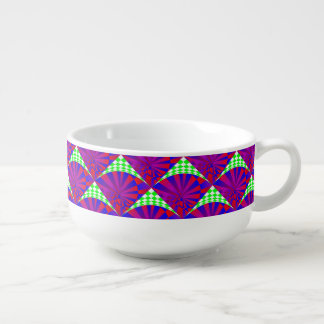 Folded Dimensions Soup Bowl With Handle