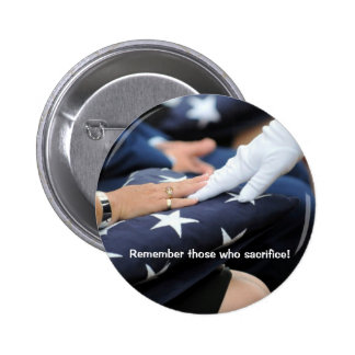 Folded Flags Memorial Button