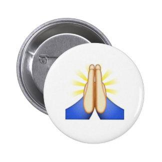 Folded Hands emoji pin