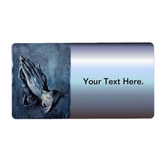 Folded Hands Prayer - Durer Shipping Label