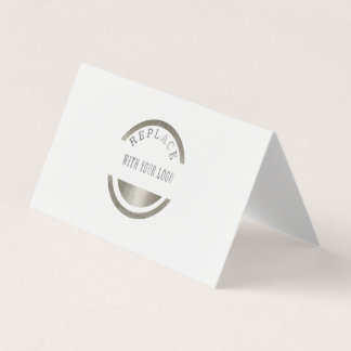 Folded Professional Replace Add LOGO Business Card