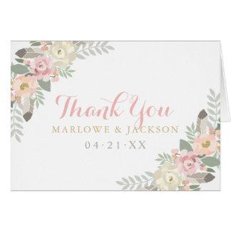 Folded Thank You Cards | Spring Vintage Boho