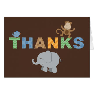 Folded Thank You Note Cards | Jungle Theme