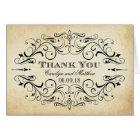 Folded Wedding Thank You Cards | Vintage Flourish
