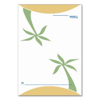 Folding Tropical Beach Wedding Escort Place Card