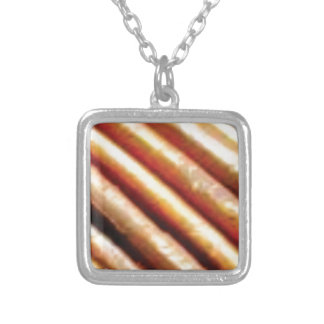 folds of copper silver plated necklace
